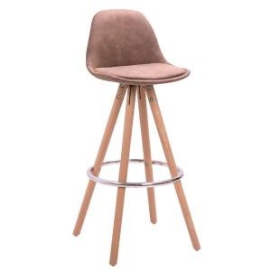 Барный стул Lacio (Лацио) коричневая ткань - 123202